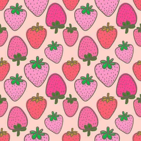 Rosa Erdbeernahtloser Hintergrund