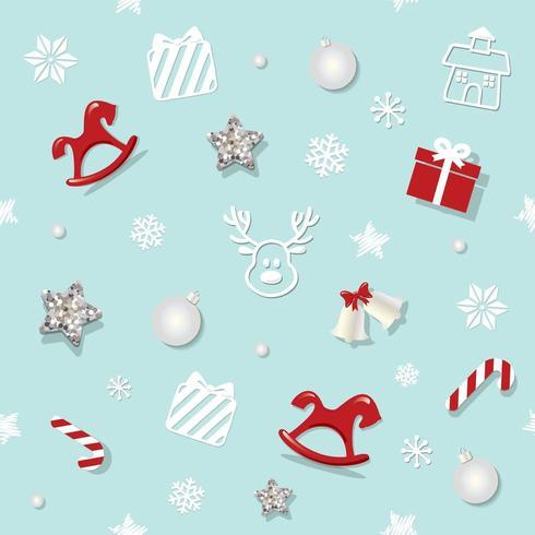 Weihnachtsnahtloses Muster mit Funkelnsternen und dekorativen Elementen