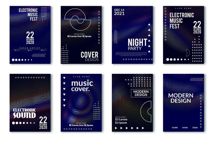 Electronic music festival minimal poster design vector