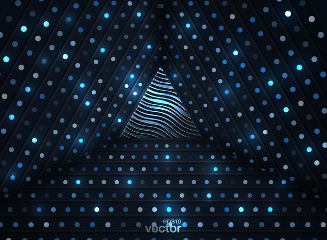 Leuchtende Punkte des abstrakten Hintergrundes 3D in der Art 3D