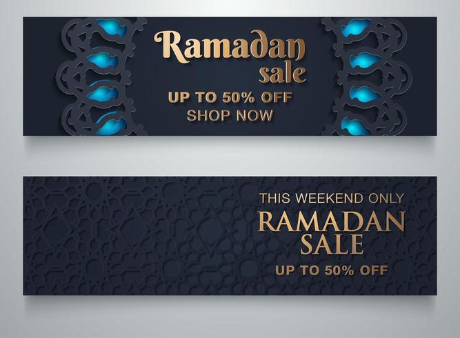 Fondo de venta de Ramadán con espacio de copia vector