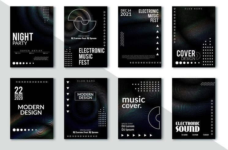 Electronic music festival poster design vector