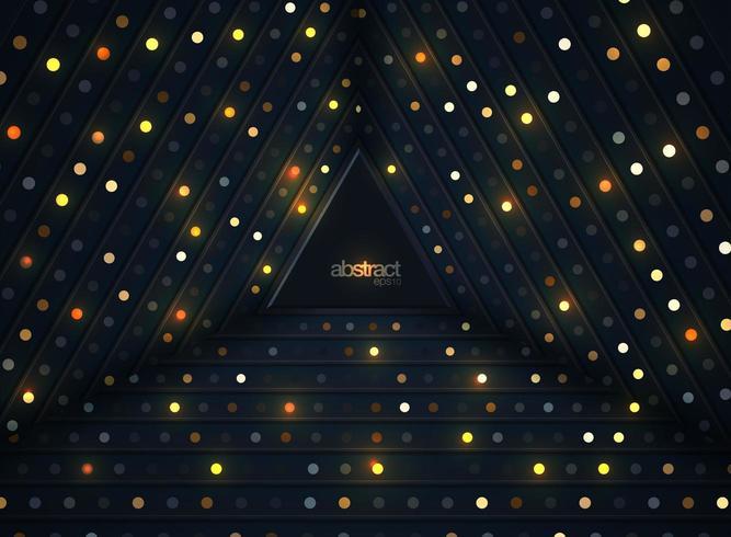 Abstrakter Hintergrund 3D mit leuchtenden Goldpunkten in der Art 3D