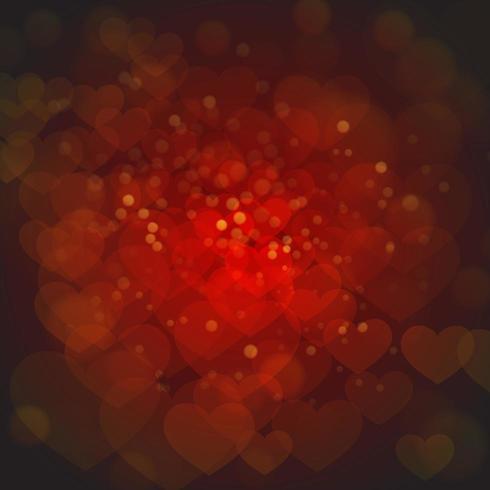 Valentine Backgrounds rosso elegante con effetto della luce
