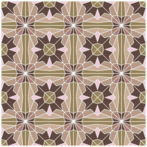 Retro Brown Geometric Seamless Pattern vector