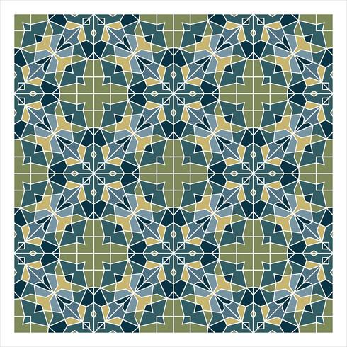 Blue and Green Geometric Seamless Pattern vector