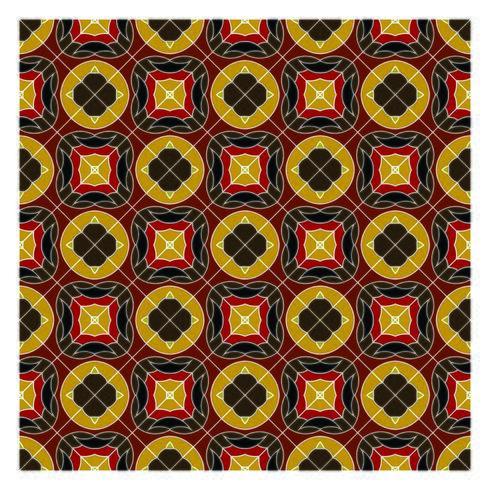 Jordfärger geometriska sömlösa mönster