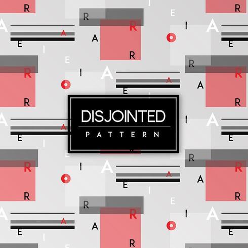 Weißer, schwarzer und roter getrennter Text-nahtloser Muster-Hintergrund