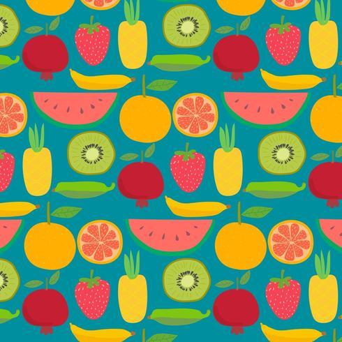 Padrão de fundo de frutas desenhadas à mão