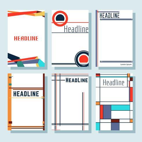 Conjunto de cubiertas minimalistas de diseño moderno. vector