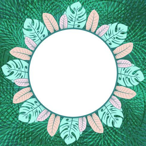 Cadre photo de cercle tropical vert frais