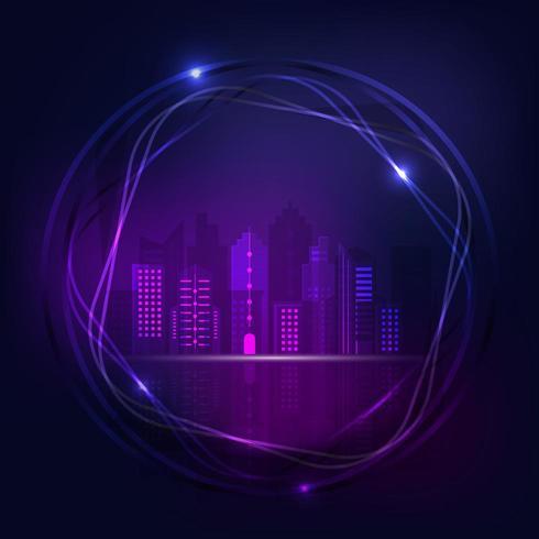 Design della città di notte al neon