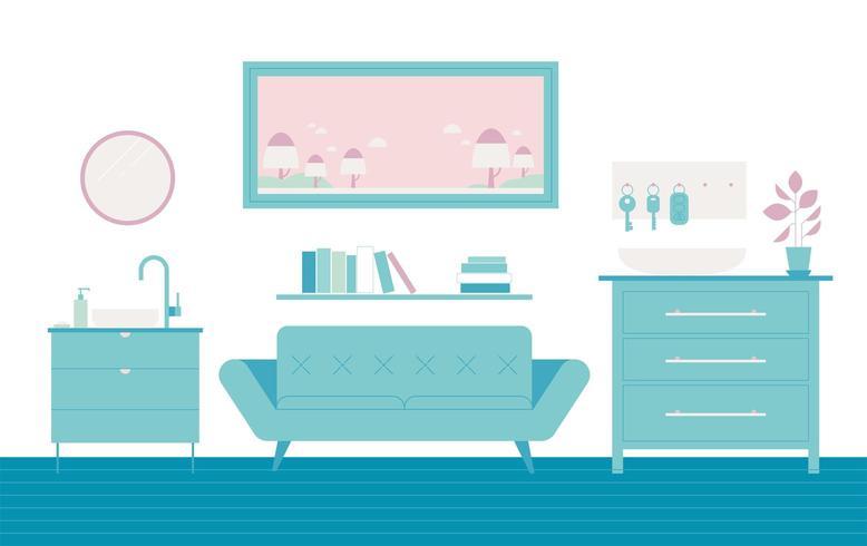Mueble del salón vector