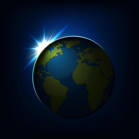 Soluppgång över jordklotet