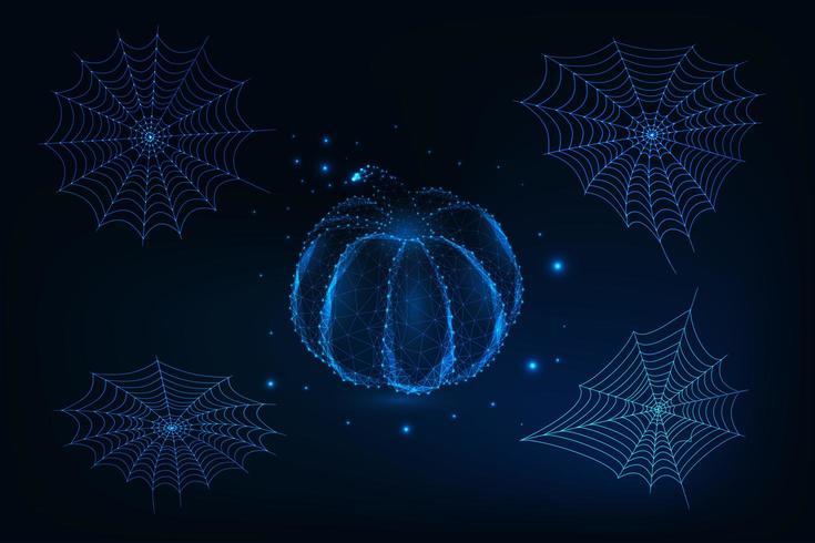 Futuristische Halloween-gelementsset