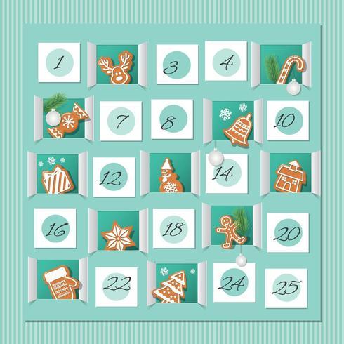 Countdown to Christmas Gingerbread Calendar