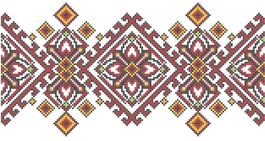 Geometriskt mönster för broderi för ukrainsk etnisk stil