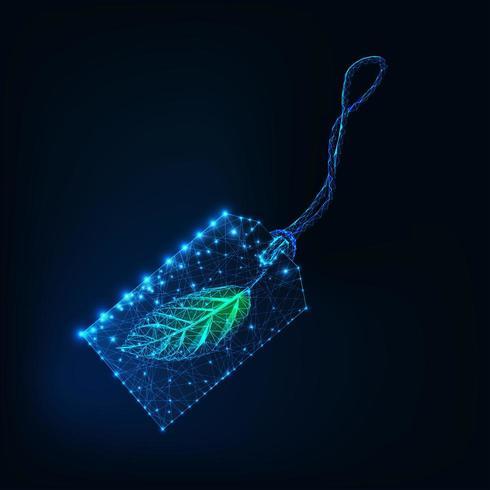 Digital glühendes wireframe Preisschild