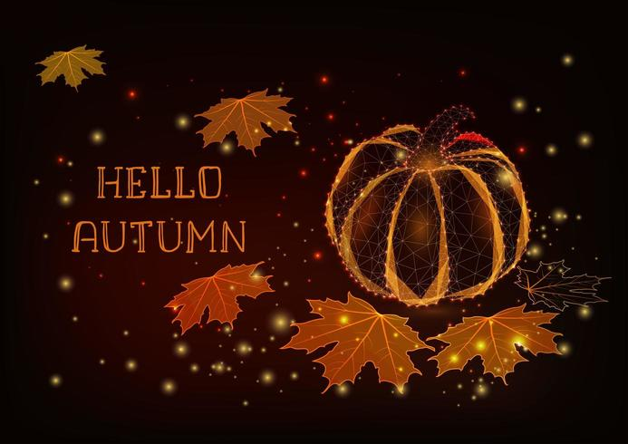 Bonjour modèle de carte de voeux d'automne