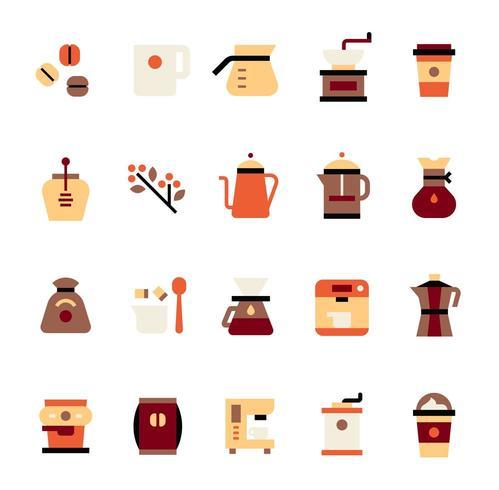 Ícones de café vetor
