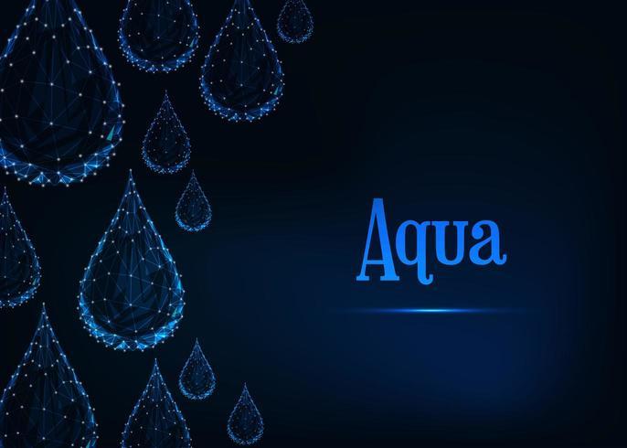 Sfondo di gocce d'acqua futuristico vettore