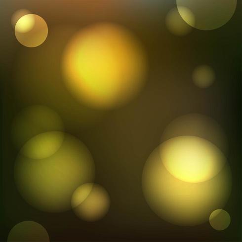 Fondo de círculos de bokeh de luz de brillo de oro vector