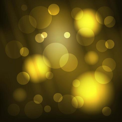 Gouden glitter lichte bokeh cirkels en stralen achtergrond