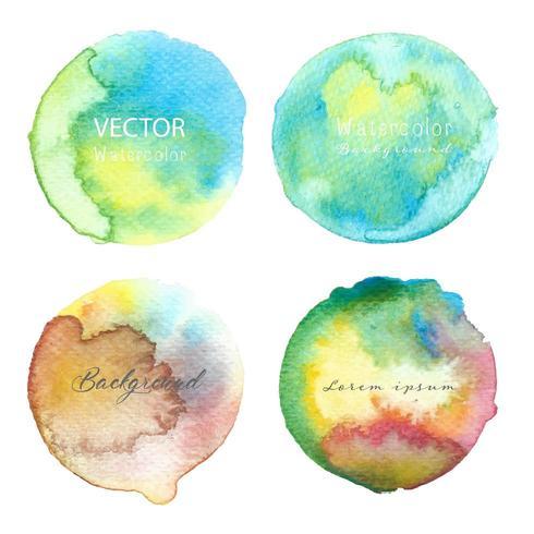 Veelkleurige aquarel cirkel set