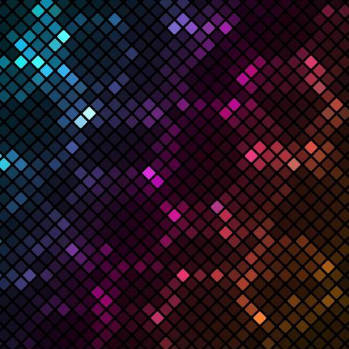 Mozaïek met kleurrijke vierkantenachtergrond
