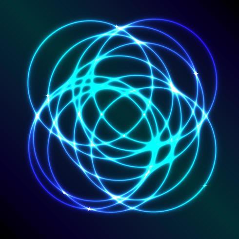 Sfondo astratto con effetto cerchio blu al plasma vettore