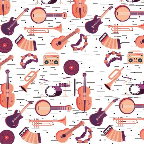 professional instruments pattern vector