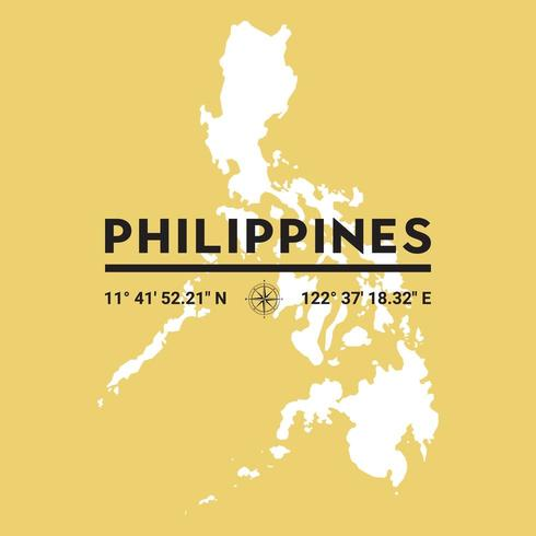 Mapa de silueta de vector de Filipinas