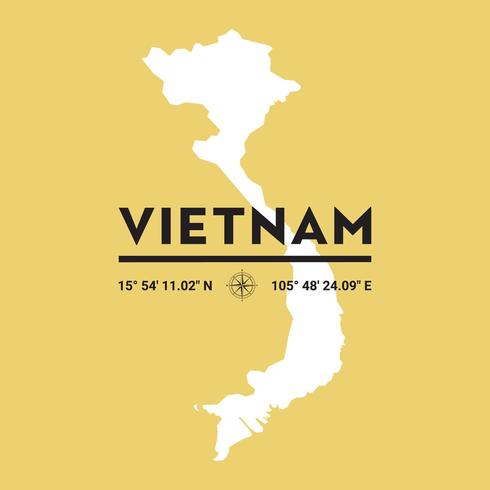 Mappa Della Siluetta Di Vettore Del Vietnam