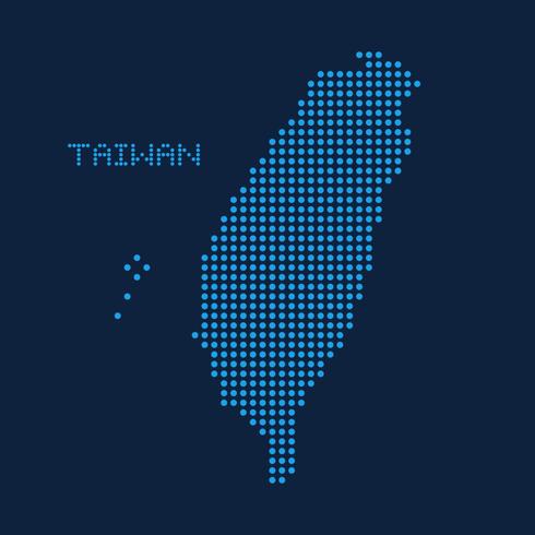 Mapa punteado abstracto de Taiwán vector