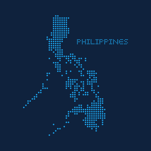 Abstract Dotted Map Of The Philippines