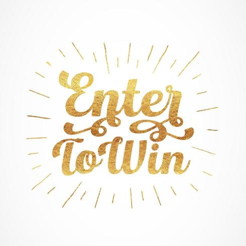 Enter To Win Typography
