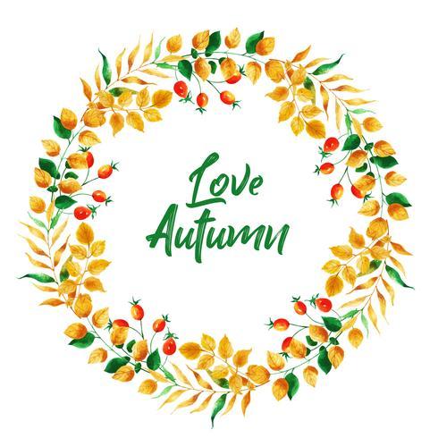 Bella acquerello Autumn Leaves Wreath
