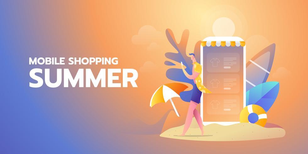Online zomerbanner winkelen