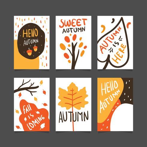 Herbst Poster oder Kartensammlung