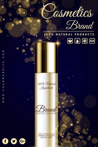 Banner pubblicitario cosmetico di lusso