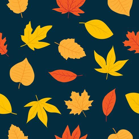 Seamless pattern di foglie d'autunno vettore
