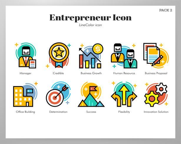 Icone di imprenditore Pack LineColor