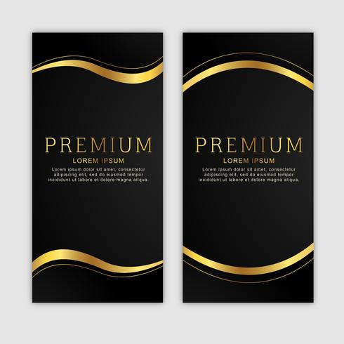 Premium gouden verticale banner set