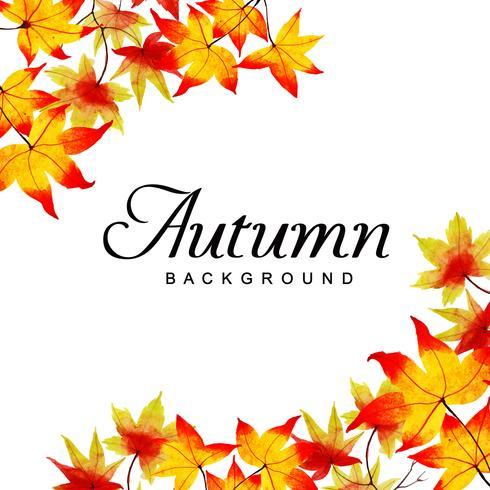 Beau fond d'automne aquarelle vecteur
