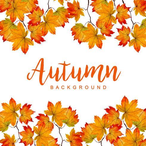 Aquarel herfst achtergrond