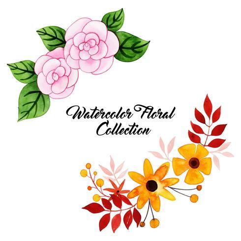 Aquarelle Collection Florale vecteur