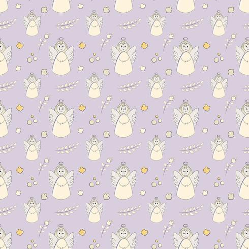Seamless Pattern of Baptême Ange vecteur