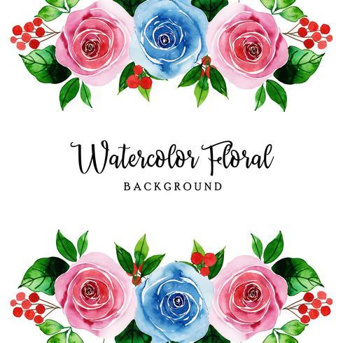 Fundo floral em aquarela vetor
