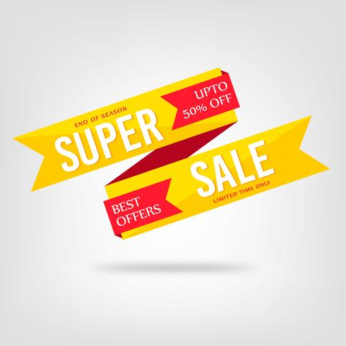 Abstract Colorful Super Sale Background