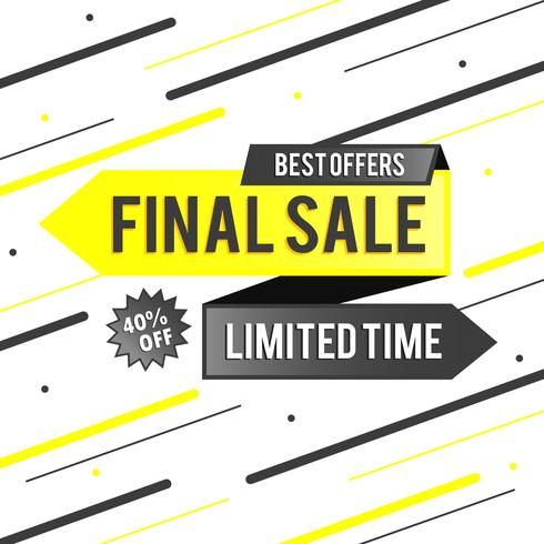 Abstract Colorful Final Sale Background